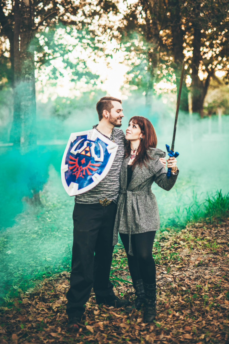 video game engagement winter park wedding photographers