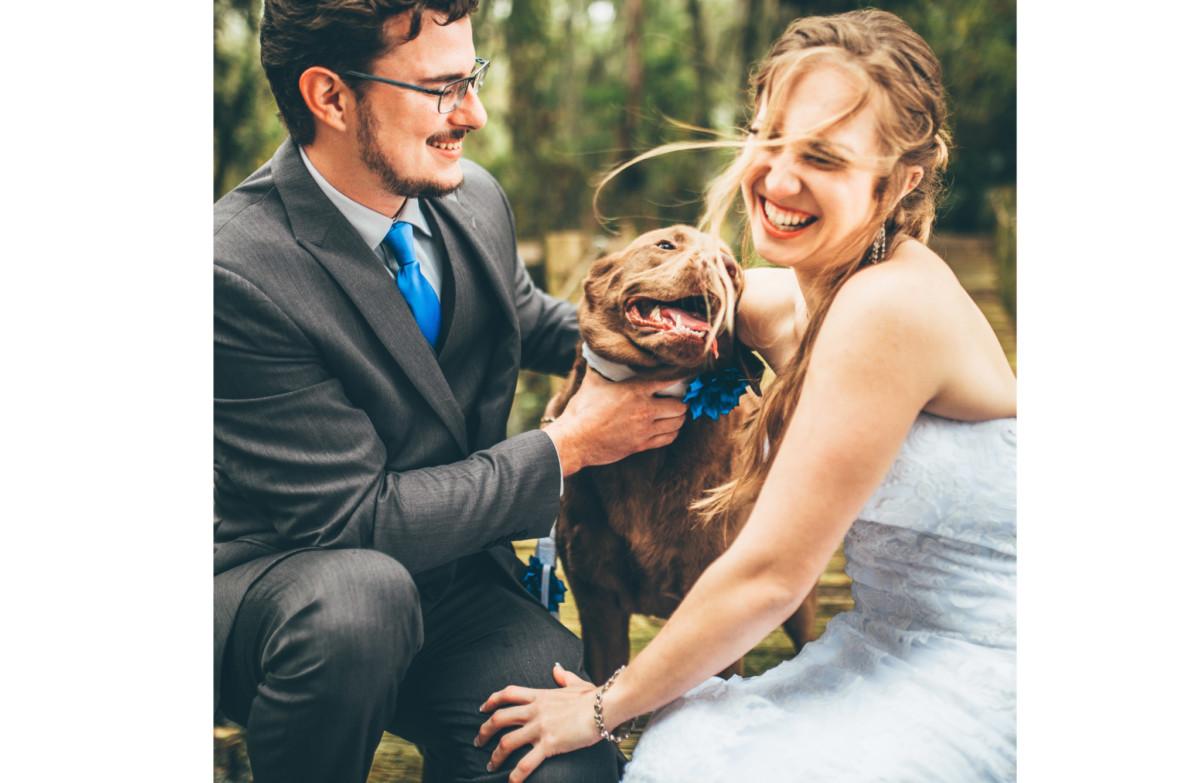 dogs at weddings orlando creative wedding photographer artist nick and lauren fairy tails dog care dog wedding